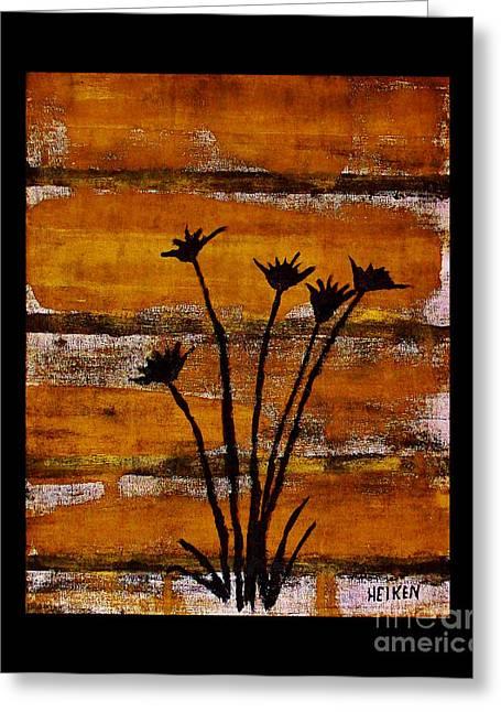 Rustic Log Cabin Greeting Card by Marsha Heiken