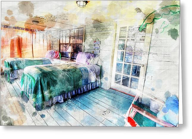 Rustic Look Bedroom Greeting Card