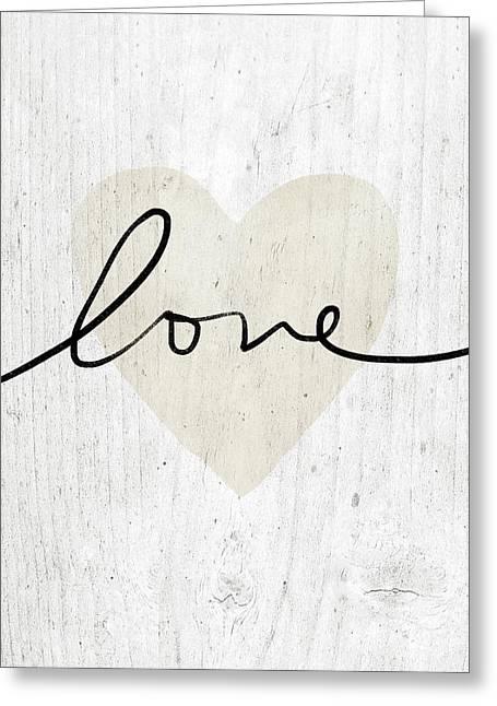 Rustic Love Heart- Art By Linda Woods Greeting Card by Linda Woods