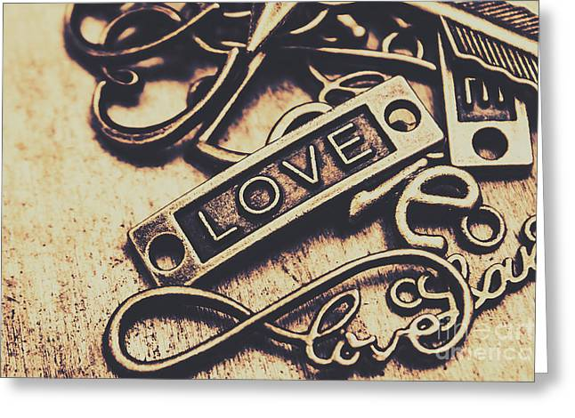 Rustic Love Icons Greeting Card by Jorgo Photography - Wall Art Gallery
