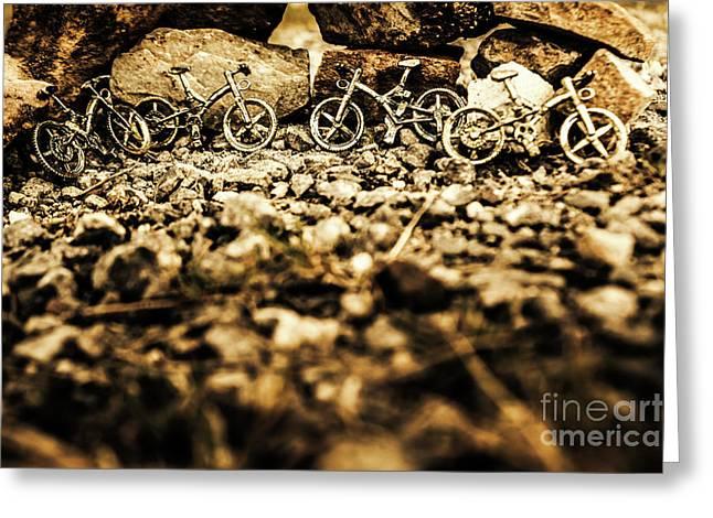 Rustic Mountain Bikes Greeting Card