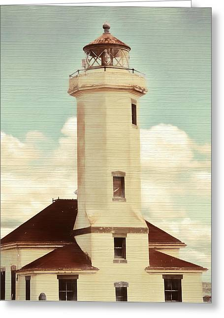 Rustic Point Light Greeting Card