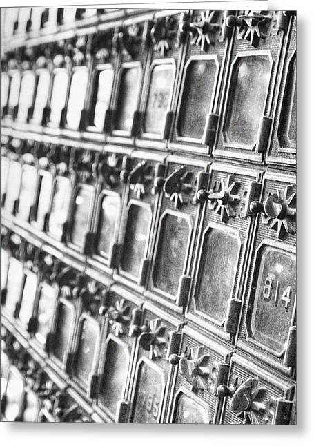 Mail Box Photographs Greeting Cards - Rustic Post Office Greeting Card by Paul Huchton