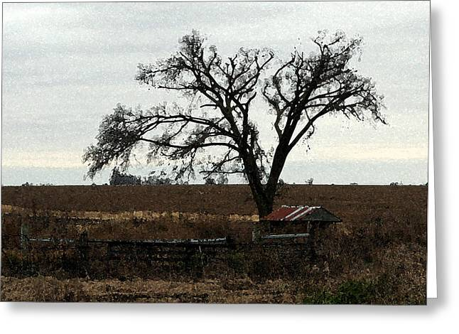 Rustic Greeting Card by Rodger Mansfield