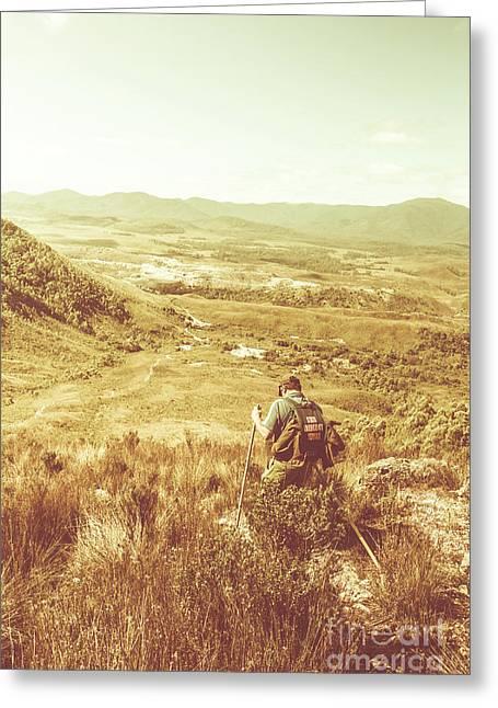 Rustic Rural Bushwalking Landscape Greeting Card