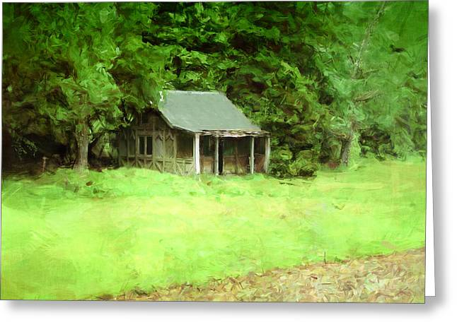 Rustic Shed Greeting Card by Mark Denham