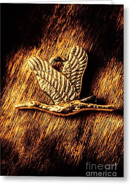 Rustic Stork Pendant Greeting Card