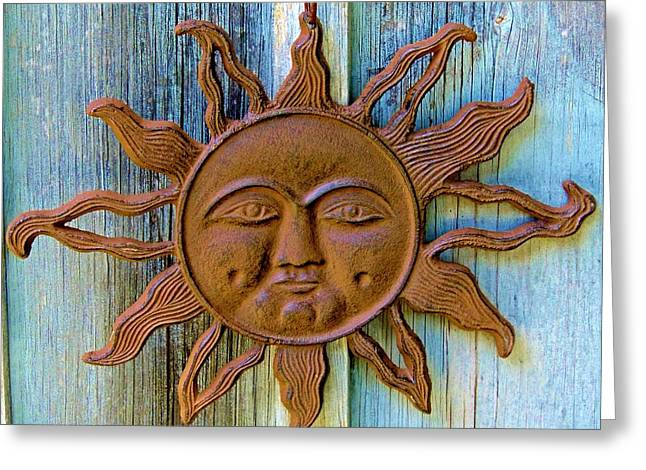 Rustic Sunface Greeting Card