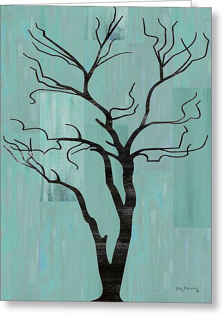 Rustic Tree Art Greeting Card by Ken Figurski