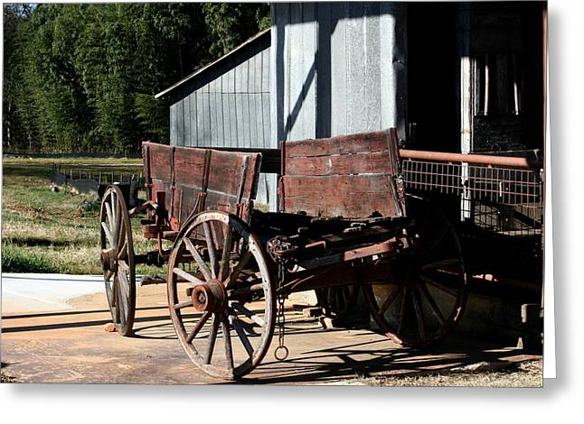 Rustic Wagon Greeting Card