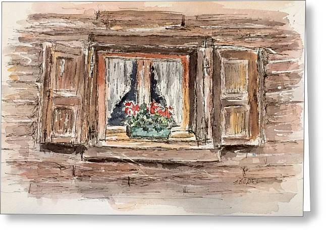 Rustic Window Greeting Card by Stephanie Sodel
