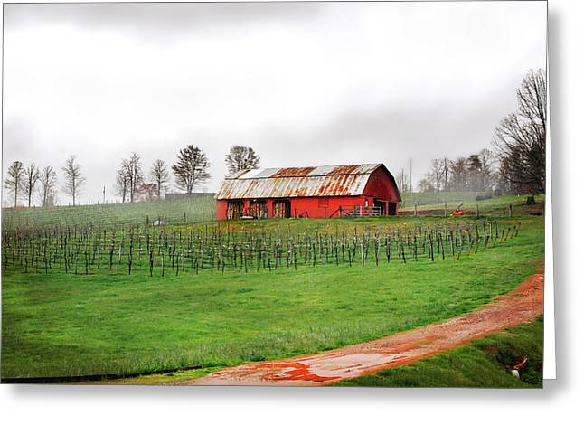 Rustic Wine Greeting Card by Robert Smith