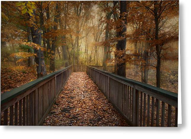 Greeting Card featuring the photograph Rustic Woodland by Robin-Lee Vieira