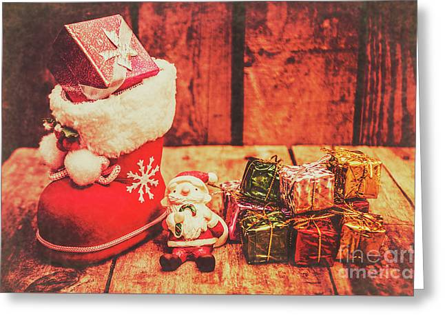 Rustic Xmas Decorations Greeting Card by Jorgo Photography - Wall Art Gallery