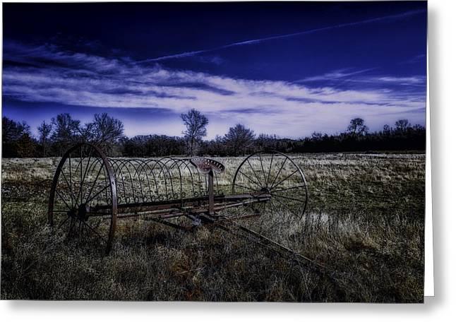 Rusting Away In Oklahoma Greeting Card by David Longstreath