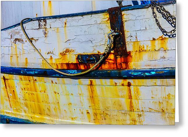 Rusting Fishing Boat Detail Greeting Card