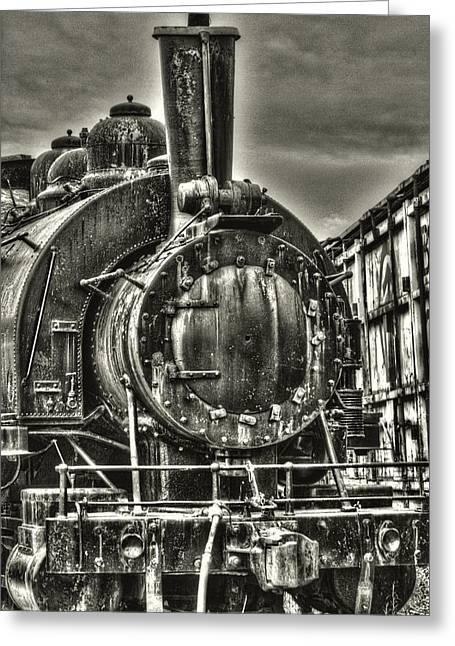 Rusting Locomotive Greeting Card