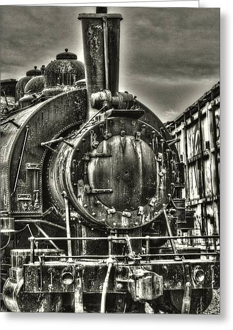 Rusting Locomotive Greeting Card