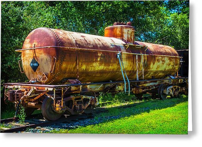 Rusting Oil Tanker Car Jamestown Greeting Card