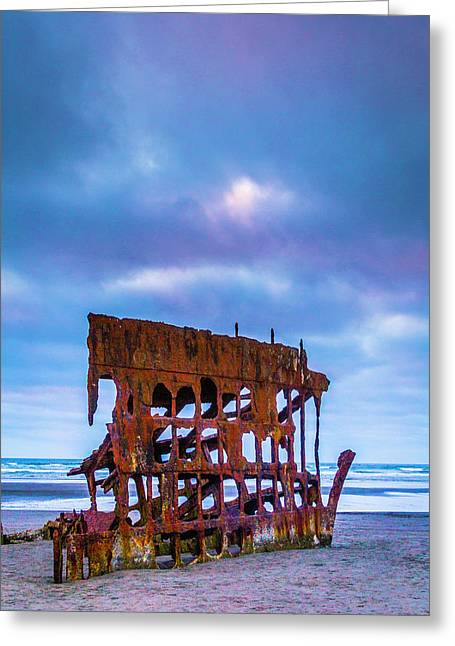 Rusting Peter Iredale Greeting Card by Garry Gay