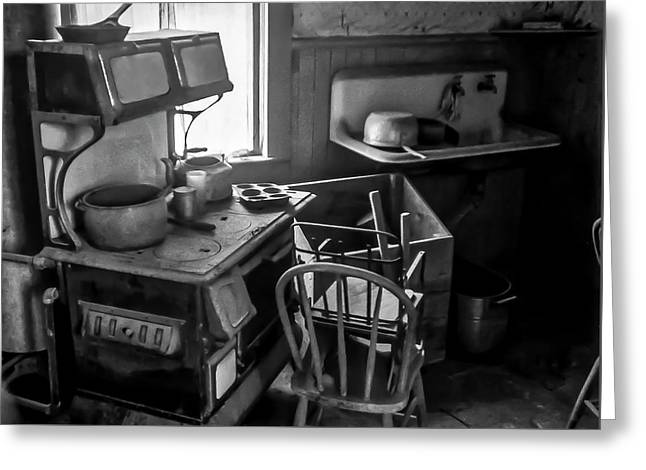 Rusting Pots And Pans, Bodie Ghost Town Greeting Card