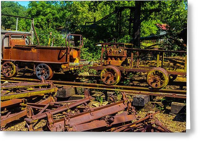 Rusting Railway Cars Greeting Card