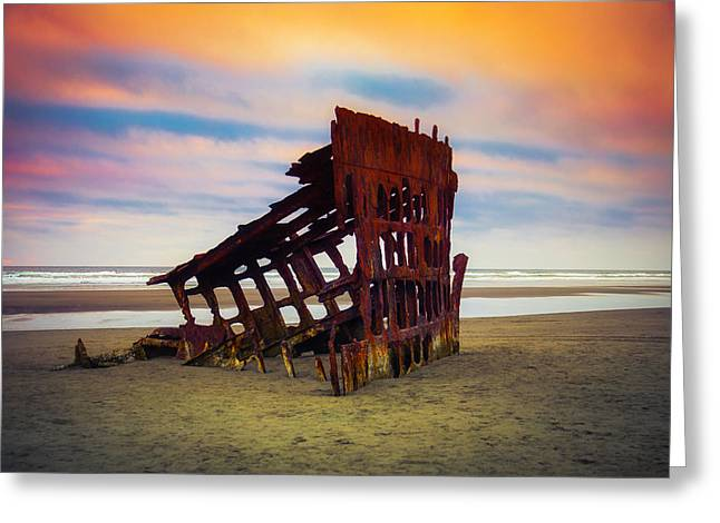 Rusting Shipwreck Greeting Card by Garry Gay