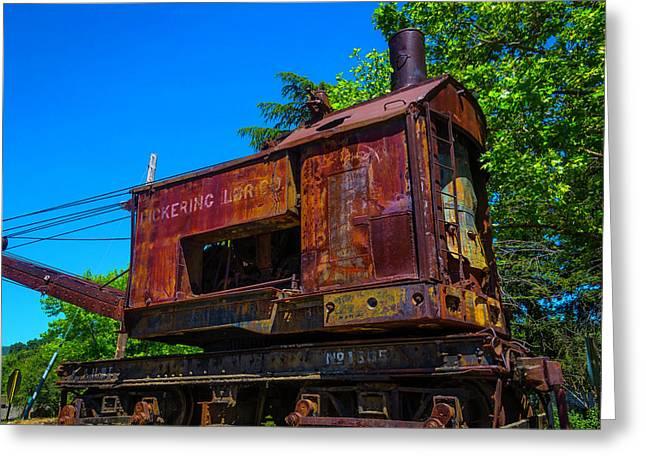 Rusting Train Crane Greeting Card