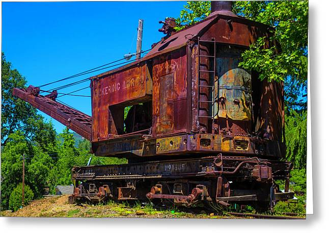 Rusting Train Crane Jamestown Greeting Card