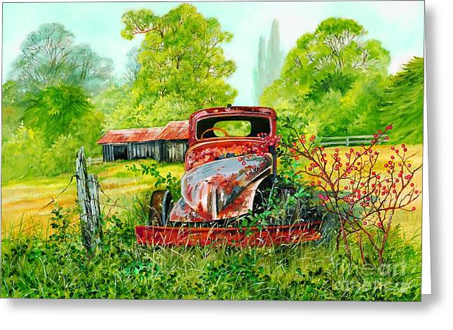 Rusting Greeting Card by Val Stokes