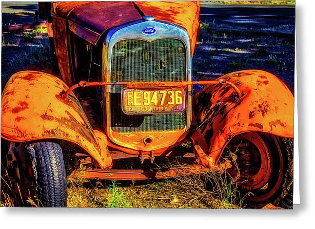 Rusting Yellow Ford Greeting Card