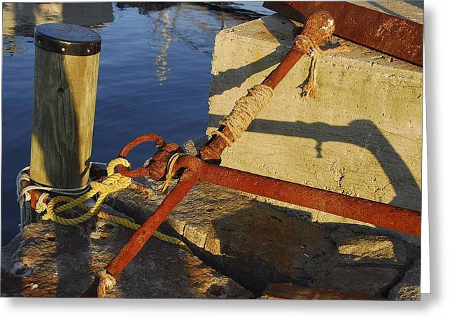 Rusty Anchor Greeting Card