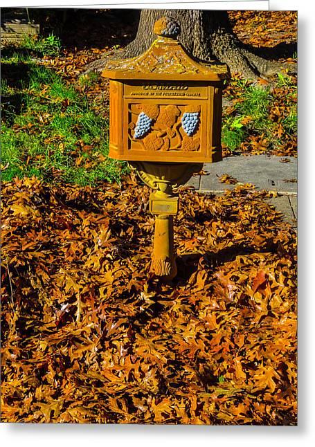 Rusty Autumn Mailbox Greeting Card