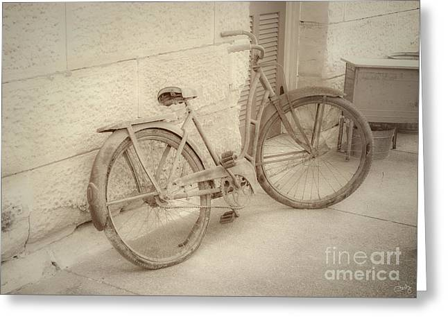 Rusty Bicycle Greeting Card
