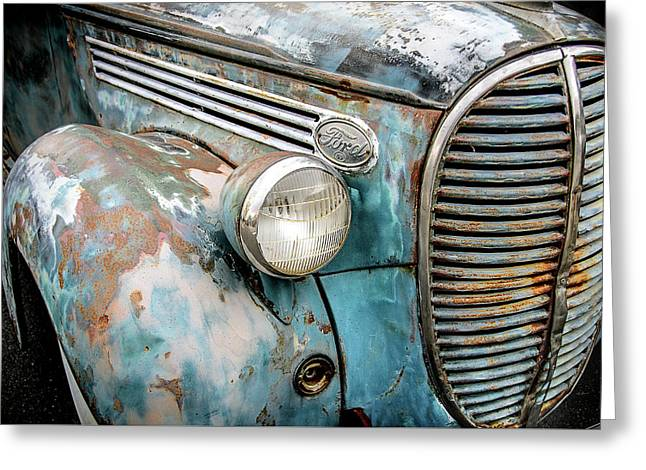 Rusty Blues Greeting Card by David Lawson