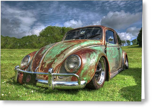 Rusty Bug - Vw Beetle Greeting Card