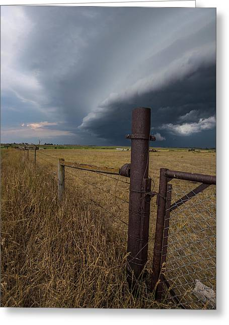 Greeting Card featuring the photograph Rusty Cage  by Aaron J Groen