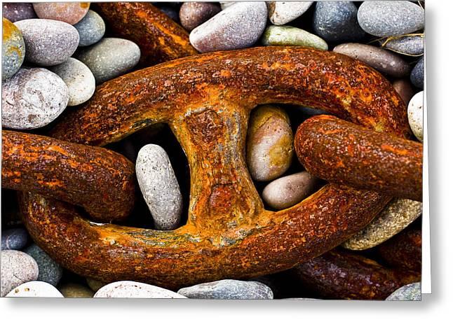 Rusty Chain Greeting Card by Gabor Pozsgai