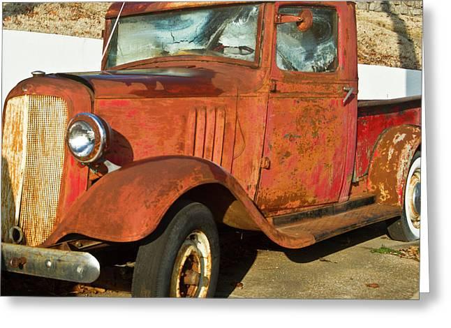 Rusty Chevrolet Pickup Truck 1934 Greeting Card by Douglas Barnett