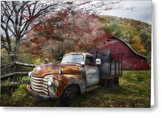 Rusty Chevy Pickup Truck Greeting Card