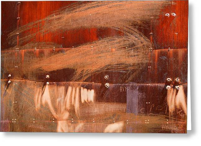 Rusty Container Greeting Card by Martine Affre Eisenlohr