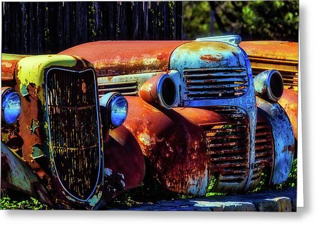 Rusty Dodge Greeting Card by Garry Gay