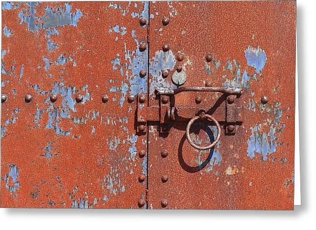 Rusty Door Greeting Card