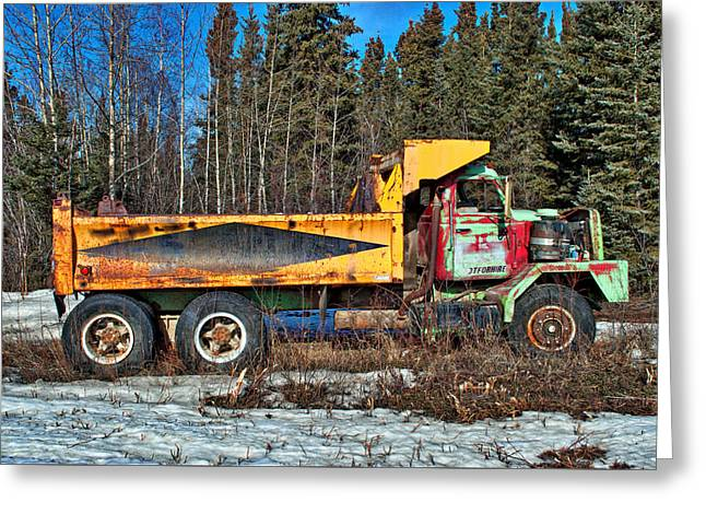 Rusty Dump Truck Greeting Card