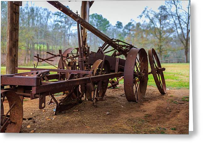 Rusty Farming Greeting Card