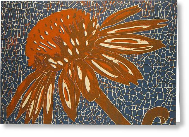 Rusty Flower Greeting Card
