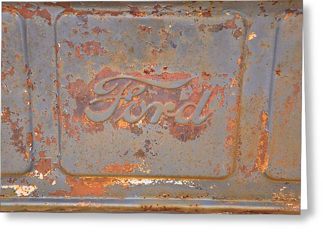 Rusty Ford Greeting Card by Jan Amiss Photography