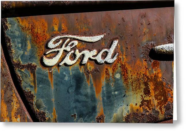 Rusty Ford Greeting Card by Robert Moorhead