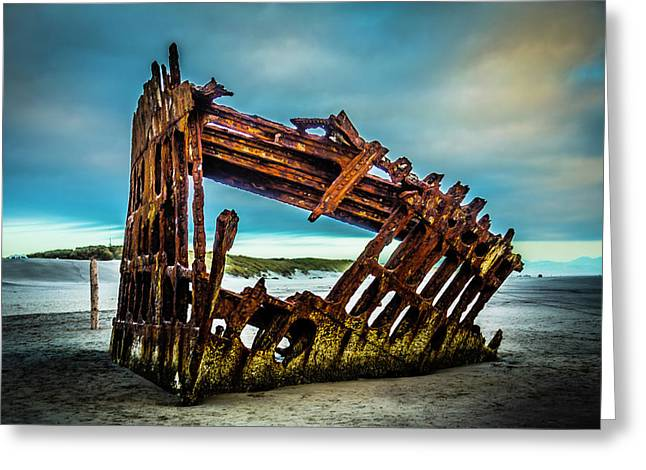 Rusty Forgotten Shipwreck Greeting Card by Garry Gay