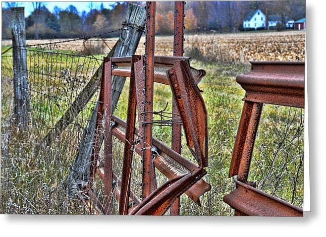 Rusty Gate Greeting Card by Pat Cook